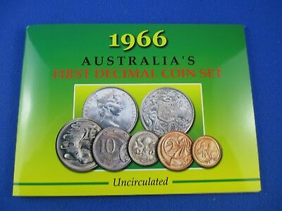 1966 Australian UNCIRCULATED COIN SET. Quality Set With Round 50c. SHERWOOD!!!