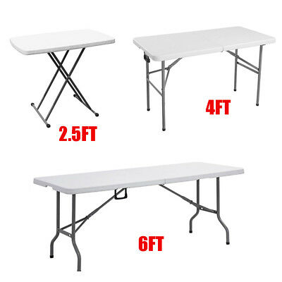 Heavy Duty Folding Camping Trestle Table Picnic BBQ Garden Party 2.5FT 4FT 6FT
