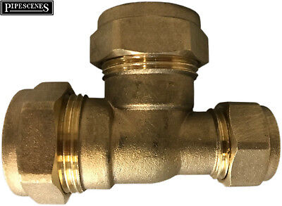 Brass Pipe Joiner 22mm x 15mm Tee Reducer 22 x 15 x 22mm