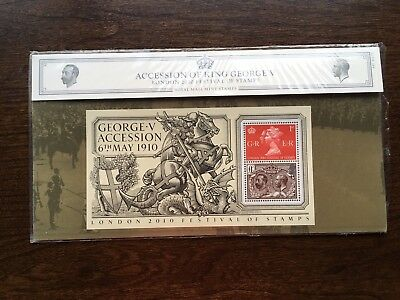 Royal Mail Accession Of King George V Presentation Pack.