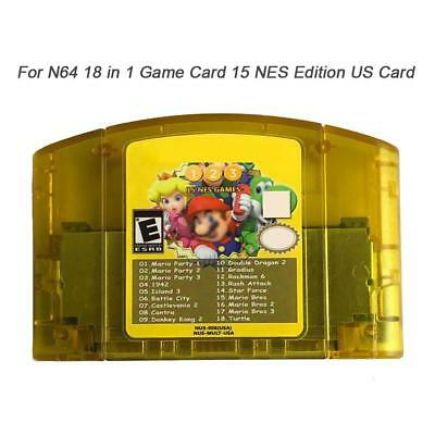 For N64 18 In 1 Game Card Mario Party 1 2 3 Video Game Cartridge Console Card AU
