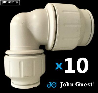 10 X 22mm x 15mm Recucer Elbow John Guest Speed Fit Reducing Bend Quick Fit Push