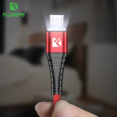 FLOVEME LED Micro USB Fast Charging Data Cable for Samsung Galaxy S6 S7 Edge 1M