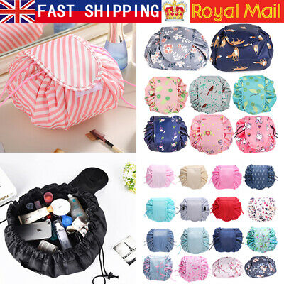 Toiletry Drawstring Cosmetic Bag Makeup Quick Pack Portable Organizer Handbag