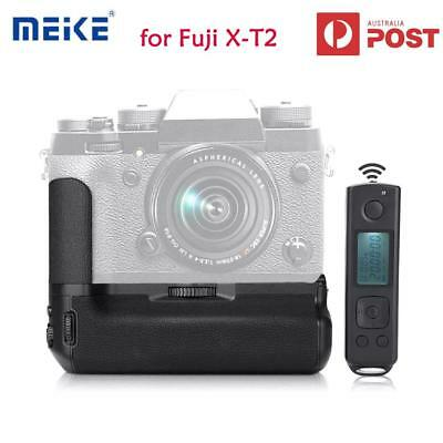 Meike MK-XT2 Pro Battery Grip with 2.4G Wireless Remote for Fuji X-T2 Black New