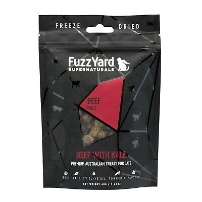 Fuzzyard Natural Freeze Dried Cat Treats - Beef with Kale 40g