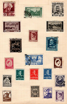 Romania 1939 onwards on album page 20 stamps Used and Unused