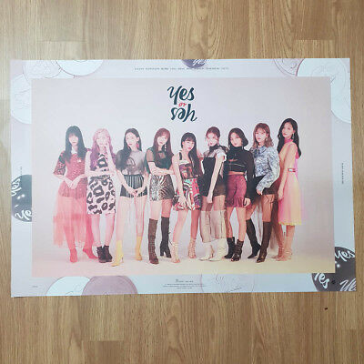 [Poster Only] Twice 6th Mini Album Yes or Yes Official Unfolded Poster