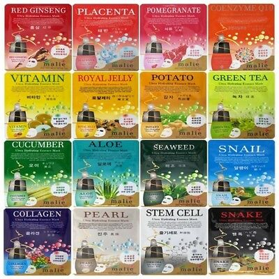 [Malie] Ultra Hydrating Essence Mask Sheet *16ea All Different Type