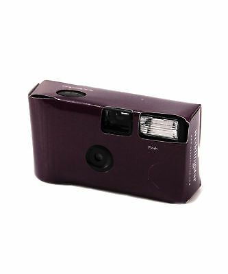 Disposable Camera with Flash Deep Purple Party Favours Pack of 8