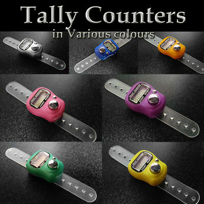 FINGER TALLY COUNTER Ring Digital Number Electronic Clicker Row Dhikr Tasbeeh