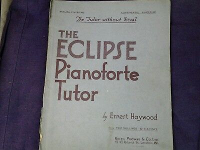 The eclipse pianoforte tutor the tutor without rival by Ernest Haywood vintage