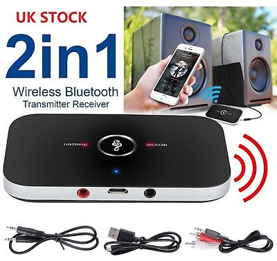 2 in 1 Wireless Bluetooth Audio Transmitter Receiver HIFI Music Adapter AUX RCA