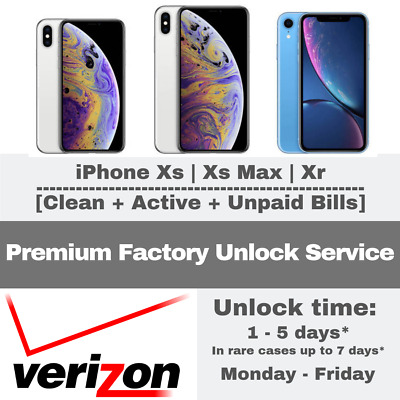 Premium Unlock Verizon Service Iphone Xr/xs/ Xs Max In Contract & Financed