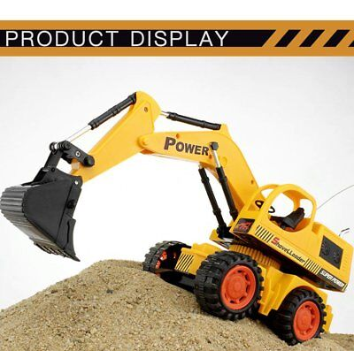 5Ch Remote Control Excavator Simulation Tractors Digger with Flash Crawler FD