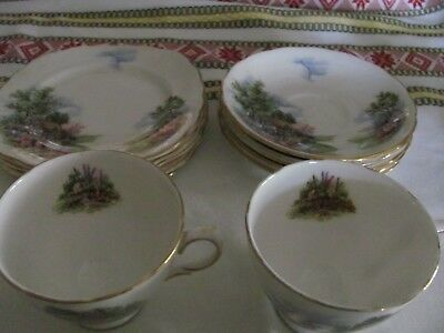 Royal Vale Cottage garden vintage part tea set  16 pieces
