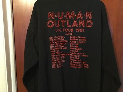 Gary Numan Outland UK Tour Sweatshirt Large 1991