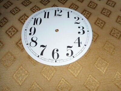 For American Clocks-Round Sessions Paper Clock Dial-125mm M/T-Arabic-Part/Spares