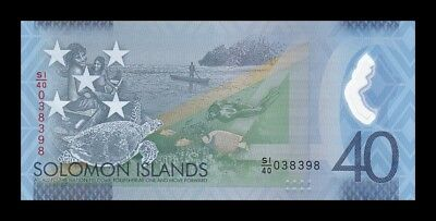 Solomon Salomon Islands 40 $ Dollar 2018. Pick New. Commemorative. Sc. Unc