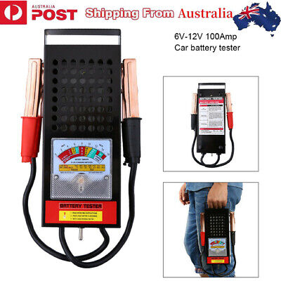 6V-12V 100Amp Car Van Auto Battery Tester Load Drop Charge System Analyzer Check