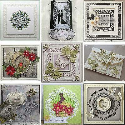 Multi Lace Border Metal Cutting Dies Stencil Scrapbooking Embossing Paper Crafts