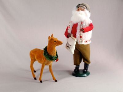 """Byers' Choice 12 1/2"""" Santa with Reindeer Treats Caroler 1997 ExcCond"""