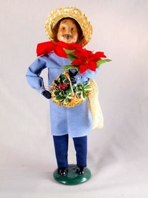 """Byers' Choice 13 3/4"""" Garderer w/ Tools Caroler Figurine 1997 Exc Condition"""