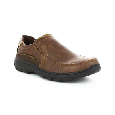 Hobos Mens Slip On Brown Casual Shoe - Sizes 6,7,8,9,10,11,12