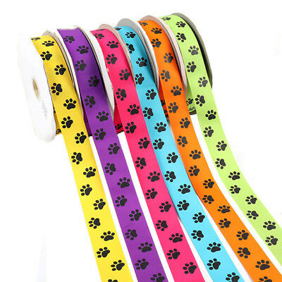 2Yards 38mm Claw Printed Grosgrain Ribbon Tape DIY Hairbows Crafts Materials