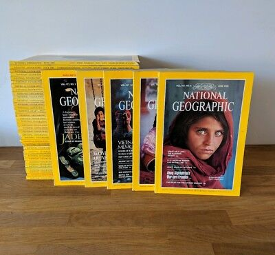 39 Vintage Issues Of The National Geographic Magazine - Bundle - 1984-1987