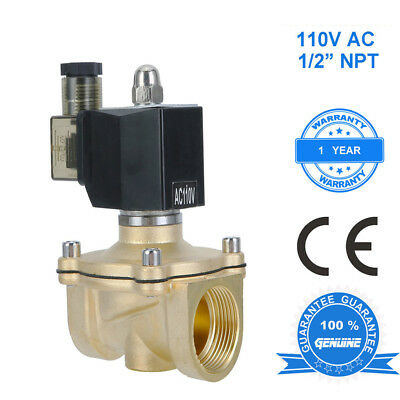 1/2 inch 110V-120V AC Brass Electric Solenoid Valve NPT Gas Water Air N/C MX