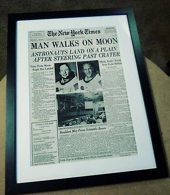 VTG The New York Times Man Walks On Moon Front Page July 21, 1969