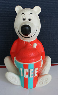 Advertising Polar Bear Bank Icee 7-11 Slurpee He's Holding an Icee
