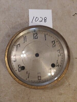 New Haven Tambour Mantle Clock Dial And Bezel With Glass