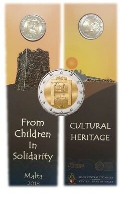 2 euros commemorative Malte 2018  Patrimoine Culturel CoinCard disponible