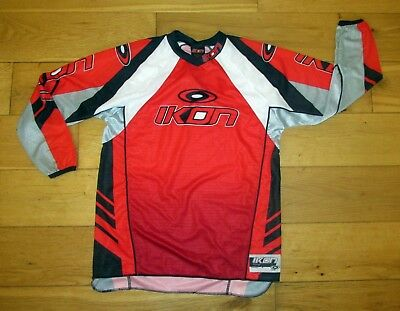 Motorcycle MX Motocross Ikon Junior Shirt Jersey Red X-Large CLEARANCE