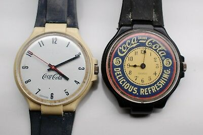 Lot Of 2 Coca Cola Swiss Watches
