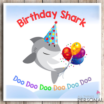 Funny Birthday Baby Shark Card Doo Doo Doo Brother Sister Son Daughter Niece