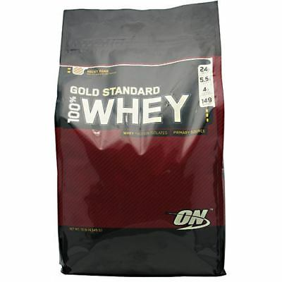 Optimum Nutrition Gold Standard 100% Whey-Rocky Road 10 lbs NEW-SEALED-FREE SHIP