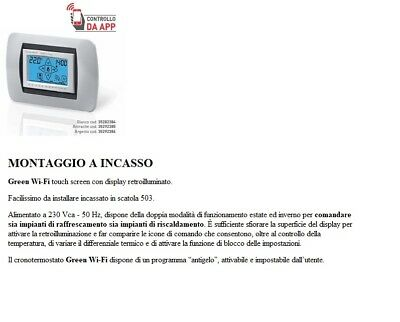 Cronotermostato GECA GREEN WiFi touch screen da incasso bianco 35282384 BIANCO