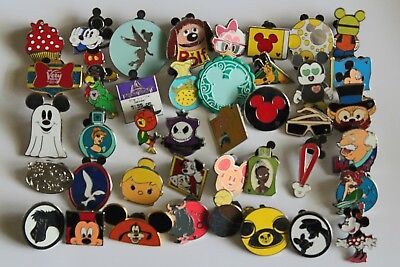 Disney-Pin-Trading-Lot-of-50-Assorted-Pins-No-Doubles.-100%Tradable.