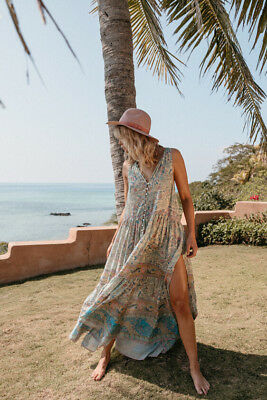 ec0b78c84992 NWT SPELL & the Gypsy Collective Designs Oasis Maxi Dress Opal Sz S ...