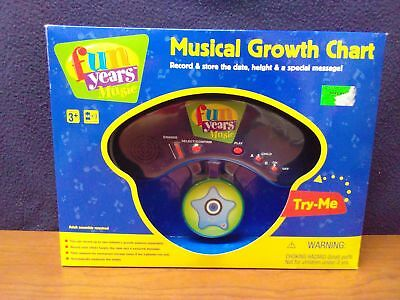 """NOS Fun Years MUSICAL GROWTH CHART Toys """"R"""" Us Exclusive"""
