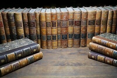 Set of 28 Antique Books, The Works of Goethe in German, 19th Century
