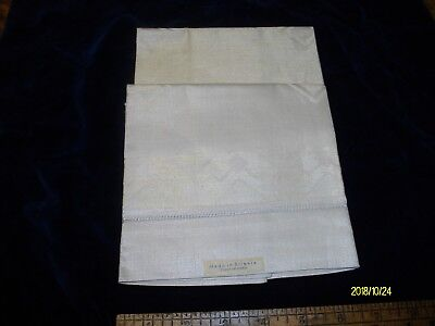 3 Antique Art Deco Damask Made In Silesia Czechoslovakia Linen Towels