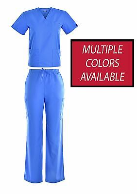 Super Comfy Unisex Men Women Medical Scrub Sets Top Bottom Nursing Uniforms