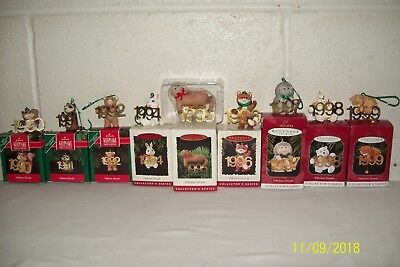 Hallmark Keepsake Ornaments Fabulous Decade 9 ornaments from the 90's FREE SHIP