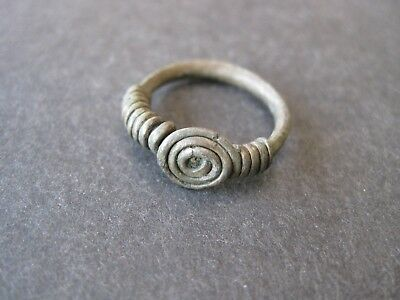 Celtic Spiral Silver Ring, 1 AD.  Very Well Preserved, Size 6