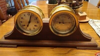 Ships Bell Clock and Barometer