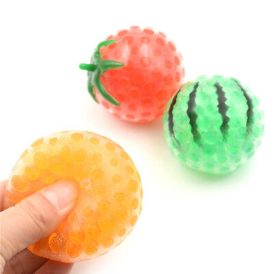 Orange Watermelon Fruit Grape Balls Antistress Strap Reliever Squee Gift Toy FBB